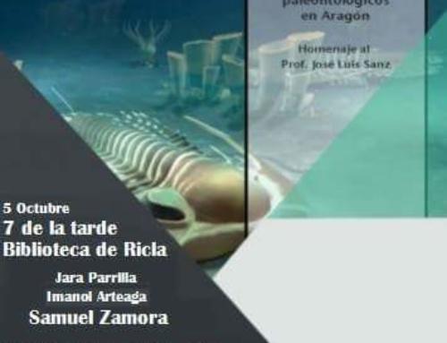 Presentación de las ACTAS DE LAS XIII JORNADAS ARAGONESAS DE PALEONTOLOGIA